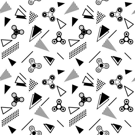 Fid Spinner Seamless Memphis Pattern Background With Color