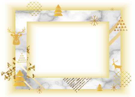 Frame template golden texture with border marble business card frame template golden texture with border marble business card or background in trendy minimalistic flashek Choice Image