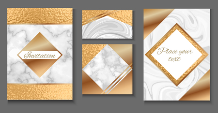 Brochure or vip packaging design set, luxury wrap paper template or background. Illustration