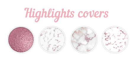 Highlights cover big set, Minimal pink marble texture background collection, story layout, gold rose frame template, vector badge for shop in social media, luxury design large collection Ilustração