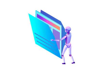 Data analysis, files and folders 向量圖像