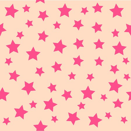 flirty: Pink Star Pattern Illustration