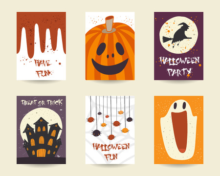 spider  net: Cute hand drawn doodle halloween objects collection including pumpkin, spider, witch, broom stick, castle, moon, blood, ghost, net. Halloween postcards, covers tags icons set decorative elements