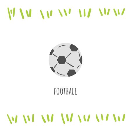 Football sport doodle card, postcard, tag, cover, background with text 矢量图像