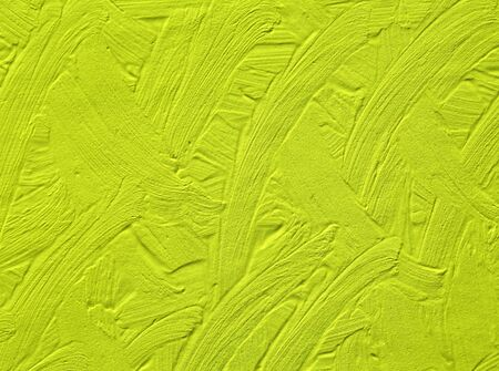 The green background is painted with colors with divorces. Fashionable palette Golden Lime of this year.