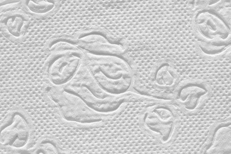Napkin white paper. Texture of paper with perforation with a pattern of flowers. Reklamní fotografie - 94755932
