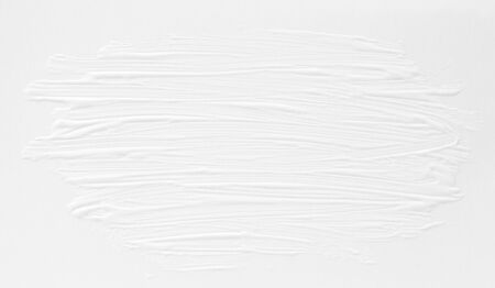 3 d texture of white paint with handmade brush strokes, decor elements for modern design. Abstract background for screensaver template and wedding card in gray gradient. Standard-Bild - 138085922
