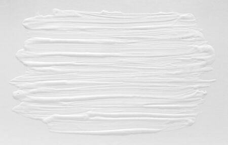3 d texture of white paint with handmade brush strokes, decor elements for modern design. Abstract background for screensaver template and wedding card in gray gradient. Standard-Bild - 138086077