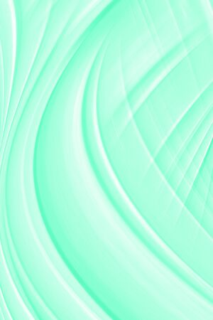 Neo mint background in a modern trend shade, a beautiful textural eyelash with waves and patterns. Template for screensaver or packaging, abstract illustration in blue. Standard-Bild - 135877437