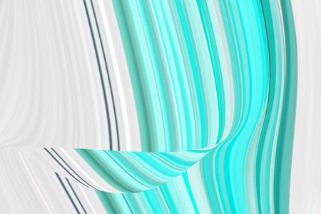 Neo mint background in a modern trend shade, a beautiful textural eyelash with waves and patterns. Template for screensaver or packaging, abstract illustration in blue. Standard-Bild - 135877239