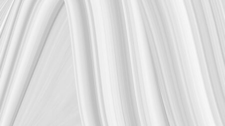 White background with texture of lines, gray gradient in modern design. Screensaver template, light color of straight stripes. Standard-Bild - 137430084