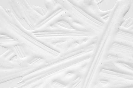 3 d texture of white paint with handmade brush strokes, decor elements for modern design. Abstract background for screensaver template and wedding card in gray gradient.