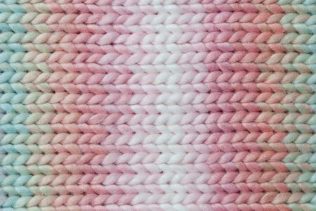pastel colors rainbow knitted texture. close up Stock Photo - 91544734