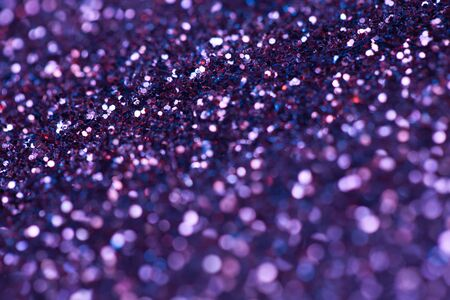 ultra violer sparkle background. bright and festive. St. Valentines concept of greeting. Macro photo Stock Photo