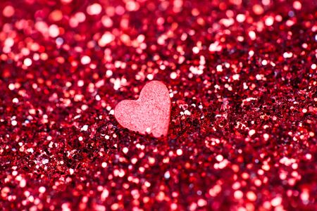 red glitter and little hearts on it.