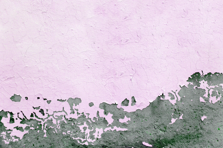 Pink painted concrete texture, grunge cracked background, close up Stock Photo