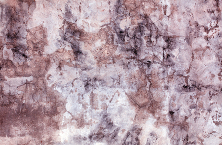 Dark faded texture, molded old wall, faded and cracked paint. Stock Photo