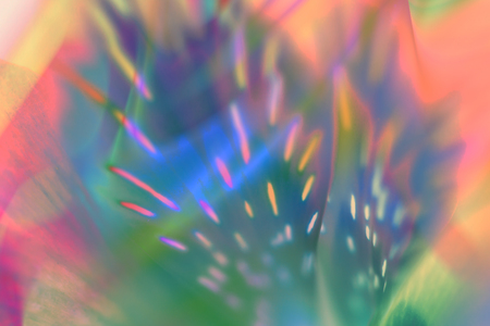 Abstract neon holographic background. 80s style colors.