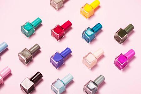 Nail polish pattern background. Close up. Banque d'images - 127123106