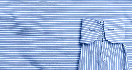 Classic Blue colored fabric texture. Concept of color of 2020