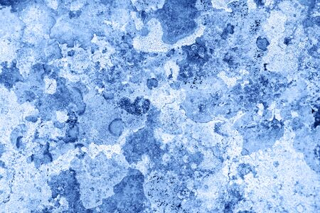 grunge textured wall. Abstract Blue cracked wall background.