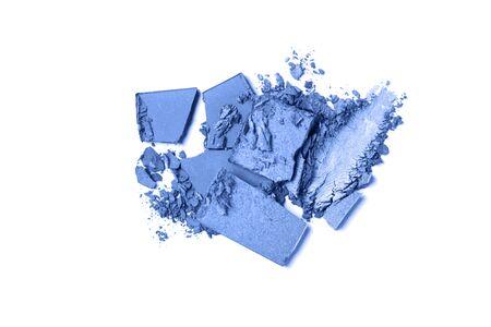 Classic blue Eye shadow set isolated on white