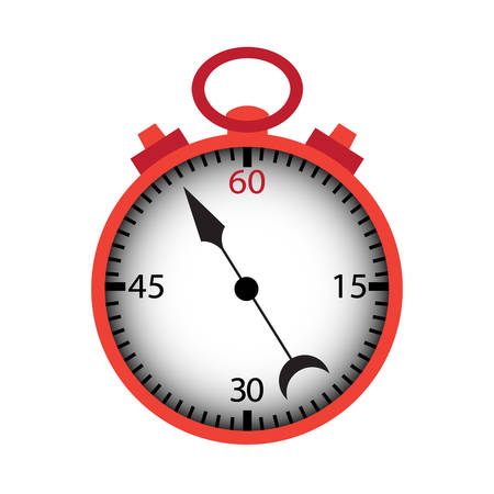 isolated over white: Stopwatch isolated over white. Illustration
