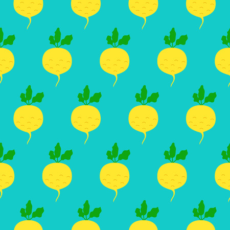 turnip: Turnip seamless pattern. Vector illustration of  image of turnip on a mint background.