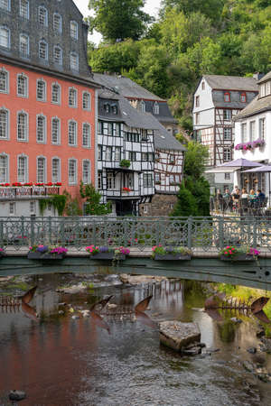 25.07.2020 Germany, Monschau, beautiful view of old town Editöryel