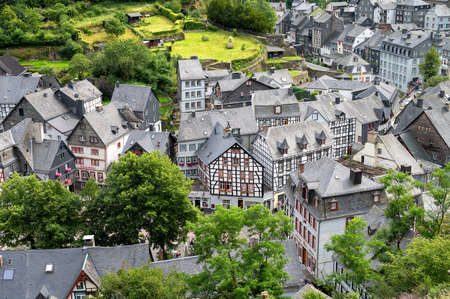 beautiful view of old town Monschau in Germany Stock fotó