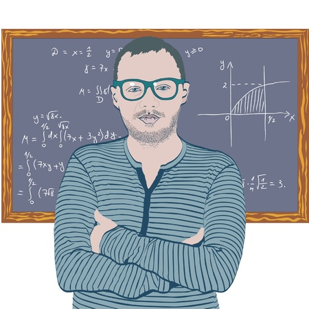 mathematician: Mathematician Illustration