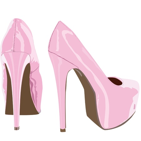 heelpiece: pink shoes