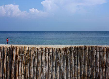 poling: Beach Stock Photo