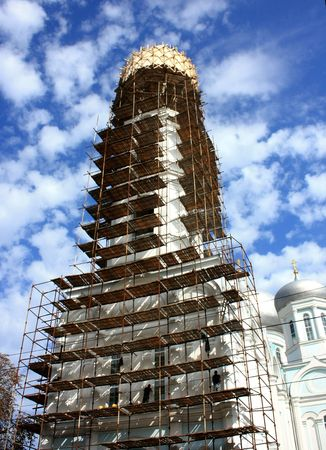 work on the reconstruction of the Church Stock Photo - 5520015