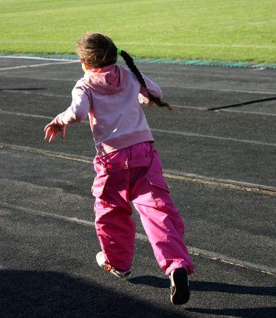 running girl Stock Photo - 5564331