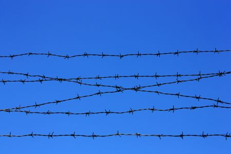 barbed wire fence detail Stock Photo - 5564333