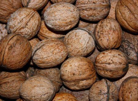 nutshell: Walnuts in nutshell Stock Photo