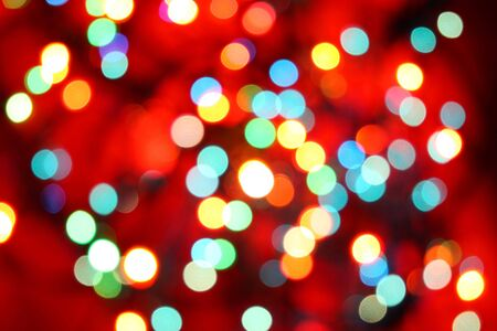Brightly colored Christmas lights Stock Photo