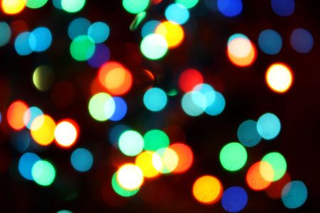 new year dance: brightly colored lights