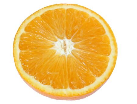 ripe orange isolated on a white back