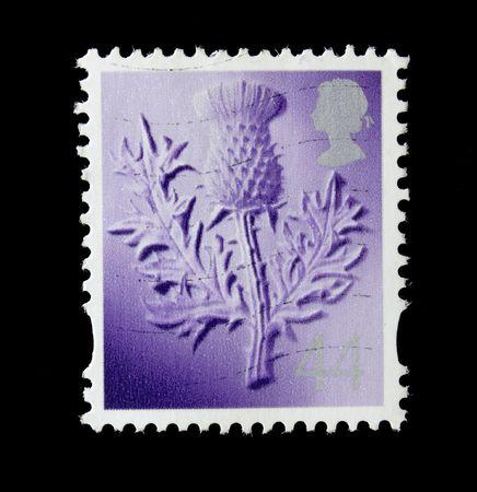 distel: UK Post Briefmarke mit Distel