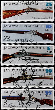 old post stamps shows ancient guns photo