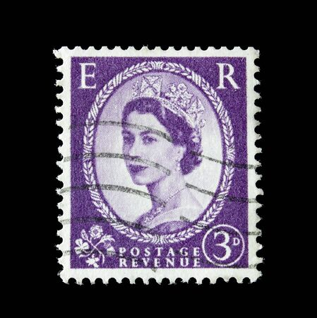 queen elizabeth: UK post stamp