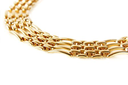 golden chain isolated Stock Photo