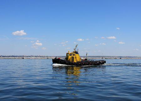 Tugboat: moving tugboat