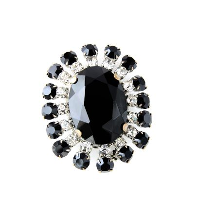 broach: Vintage brooch isolated on white Stock Photo