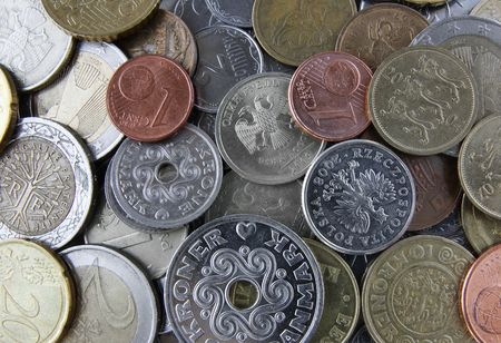 currency coins from around the world photo