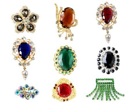 saffier: verzameling van vintage broches