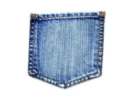 denim jeans: blue jeans pocket isolated on white