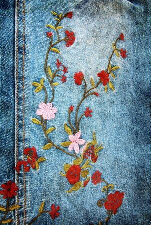 denim fabric: vintage denim texture Stock Photo